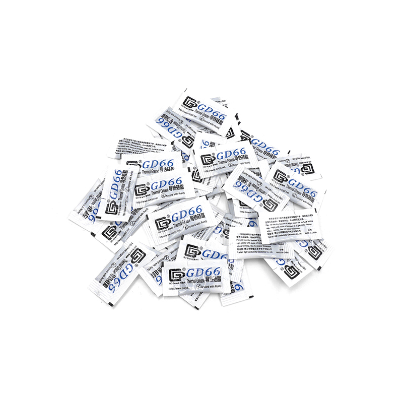 50pcs GD66 Thermal Conductive Grease Paste Silicone Plaster For LED Chip Heatsink Compound 50 Pieces Grams High Performance Gray