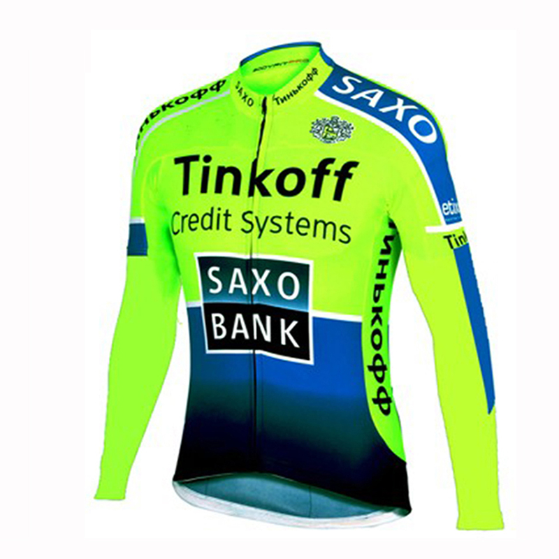 UCI 2018 pro team Tinkoff cycling jersey bicycle clothing Maillot ciclismo hombre long sleeve bicycle jersey MTB bike shirt купить недорого в Москве