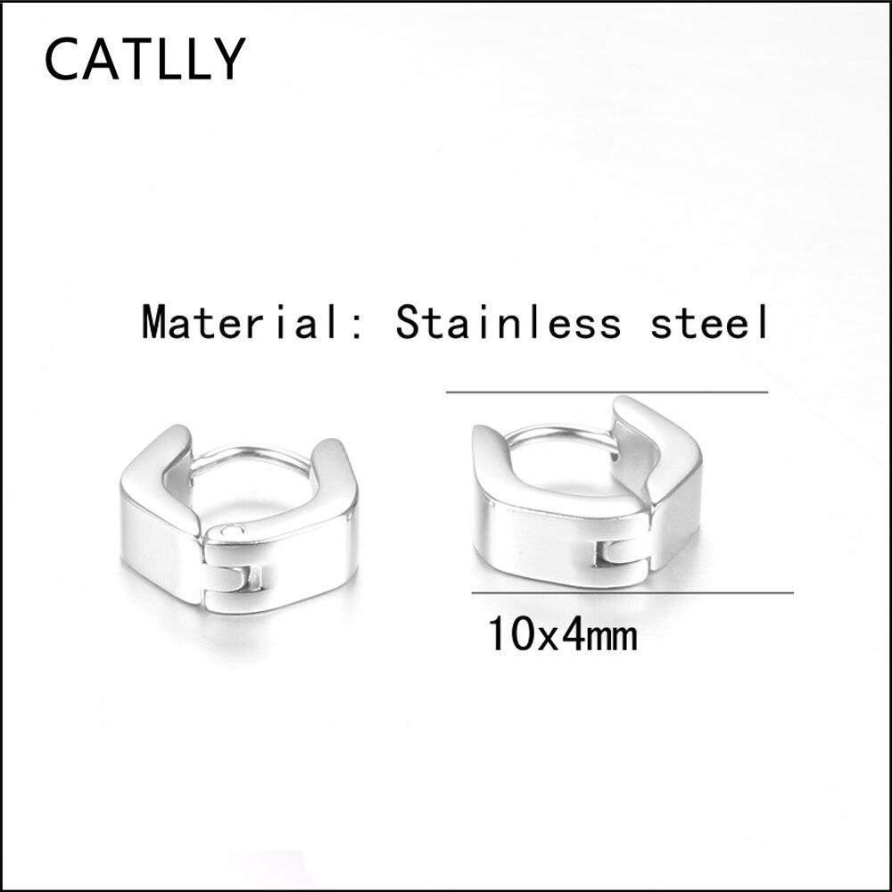 Hot sale Stainless Steel Geometric Stud Earrings for Men Women silver color Unisex jewelry Stud Earrings