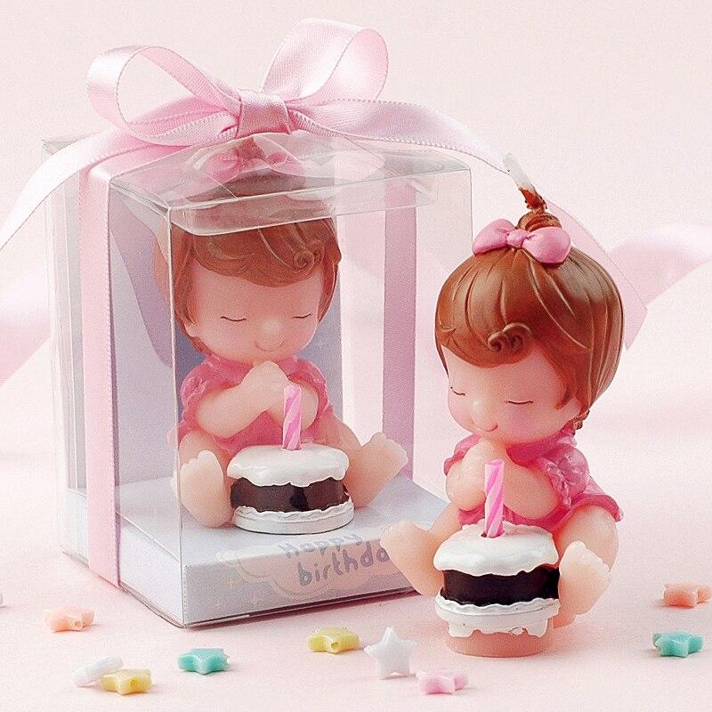Creative Smoke Free Wishing Baby Art Cake Candle For