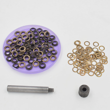 (100pieces/lot) inner diameter of8mm metal atmospheric eye. Shoebox holes. Canopy cloth drawstring Eyelets. corn.