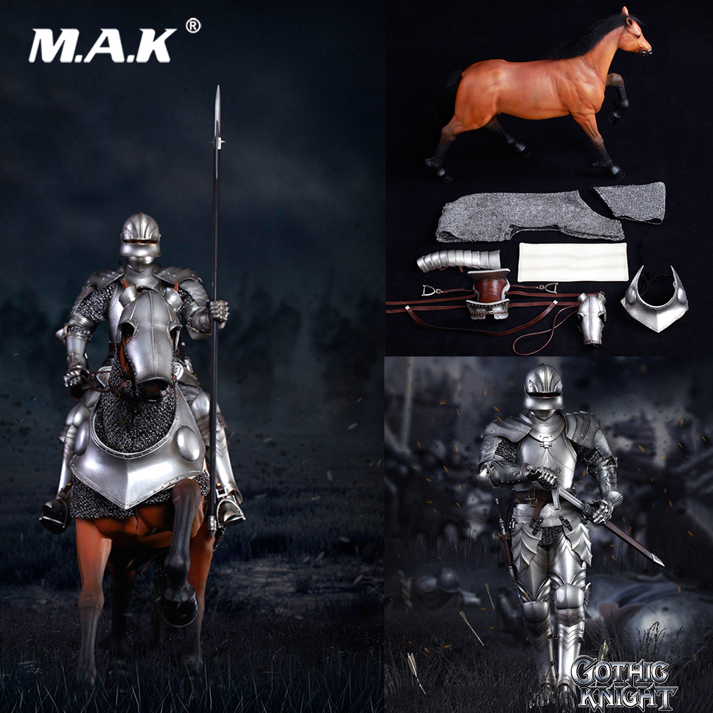 SE014 1/6 Collectible Full Set Alloy die casting Empire series Gothic knight Armored War Horse SE012 Gothic Knight Set for Fans
