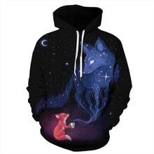 2020 Fashion 3d Hoodies Women/Men 3d Sweatshirts Print Fox U