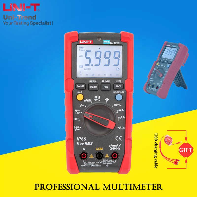 UNI-T ut191t/ut191e true rms professional 멀티 미터, ip65 방수/방진/lpf 로우 패스 필터/loz 전압 측정