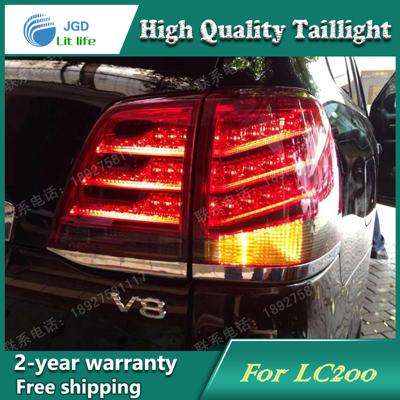 Car Styling Tail Lamp for Toyota LAND CRUISER 2012 Tail Lights LED Tail Light Rear Lamp LED DRL+Brake+Park+Signal Stop Lamp car styling tail lamp for toyota corolla led tail light 2014 2016 new altis led rear lamp led drl brake park signal stop lamp