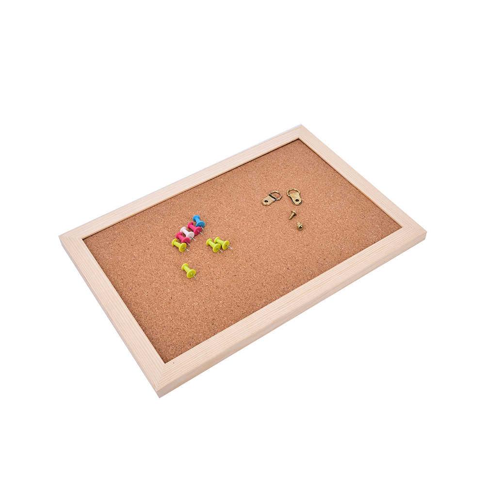 Placa de Escritório NNRTS Foto Placa Da Cortiça de Madeira Emoldurado Placa de Mensagem de Aviso 20*30 centímetros Pinos Placas de Cortiça Para Casa com Acessórios