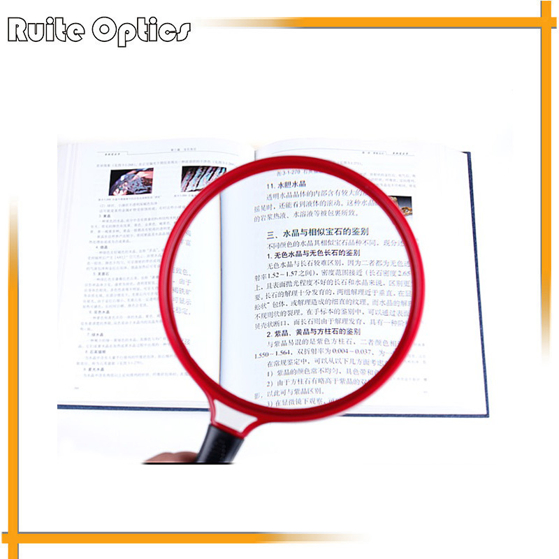 Optical Magnification 3x Portable Glass Lens Map Magnifier Magnifying Glass For Old People Loupe 130mm full page magnifying sheet fresnel lens 3x magnification pvc magnifier