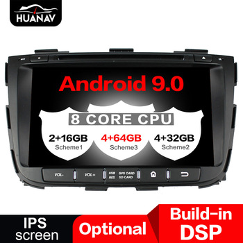 DSP Android 9.0 Car DVD player GPS navigation for Kia Sorento 2015 2016 2017 auto multimedia stereo radio player head uint tape