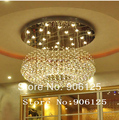 Modern LED Crystal Chandelier Light Fixture 110V 220V Bagels Shape Crystal Chandelier Light Fixture +Free shipping!