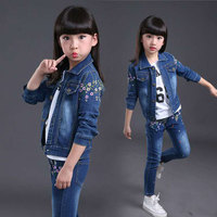 New 2019 Spring Newborn Baby Girls Clothes Set Long Sleeved Tops + Pants 2PCS Outfits Kids 3T 12 Years Old Childrens Girls Suits