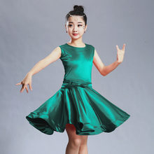 d4ecde8224a96 2018 niñas vestidos para el baile de salón de baile rumba samba spandex  niños samba cha tango falda estándar salsa