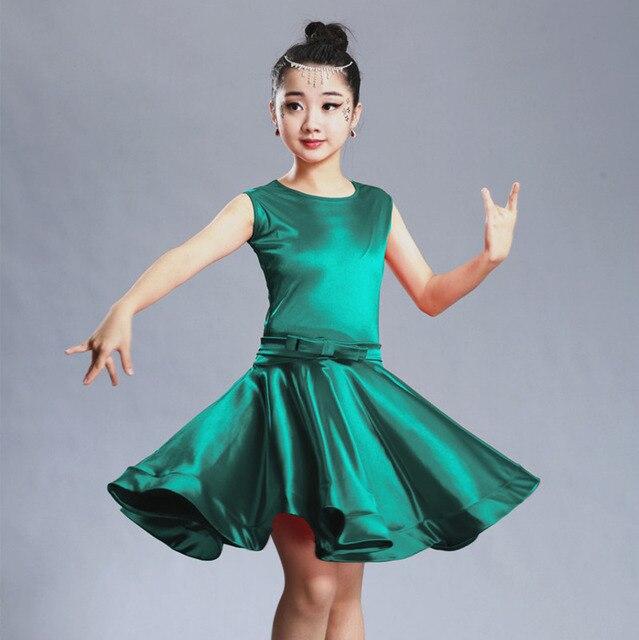 97788804e 2018 girls latin dresses for dancing ballroom dance dress rumba samba  spandex children samba cha cha tango skirt standard salsa
