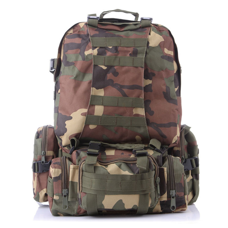 Outdoor Sports Camping Travel Hiking Climbing Bag Multifunction Military Tactical Backpack with MOLLE Webbings Bags 65l outdoor sports multifunctional heavy duty backpack military hiking
