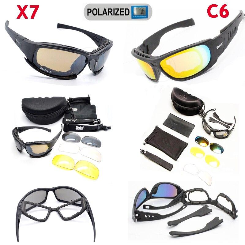C5 C6 Military Glasses Tactical Shooting Glasses X7 font b Polarized b font Sport font b