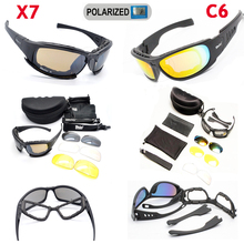 C5 C6 Military Glasses Tactical Shooting Glasses X7 Polarized Sport Sunglasses Hunting Airsoftsports Goggles Hiking Eyewear