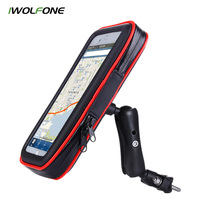 IWOLFONE Bike Bicycle Waterproof Cell Phone Bag Holder Motorcycle Mount For Samsung Galaxy S8 Plus IPhone