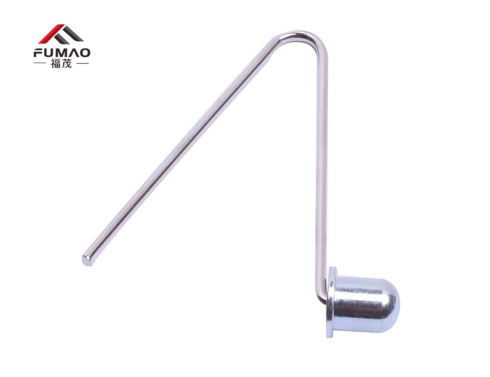 Купить с кэшбэком Manufacturer custom 6mm Tent Pole Push Button Spring Snap Clip Locking Tube Pin