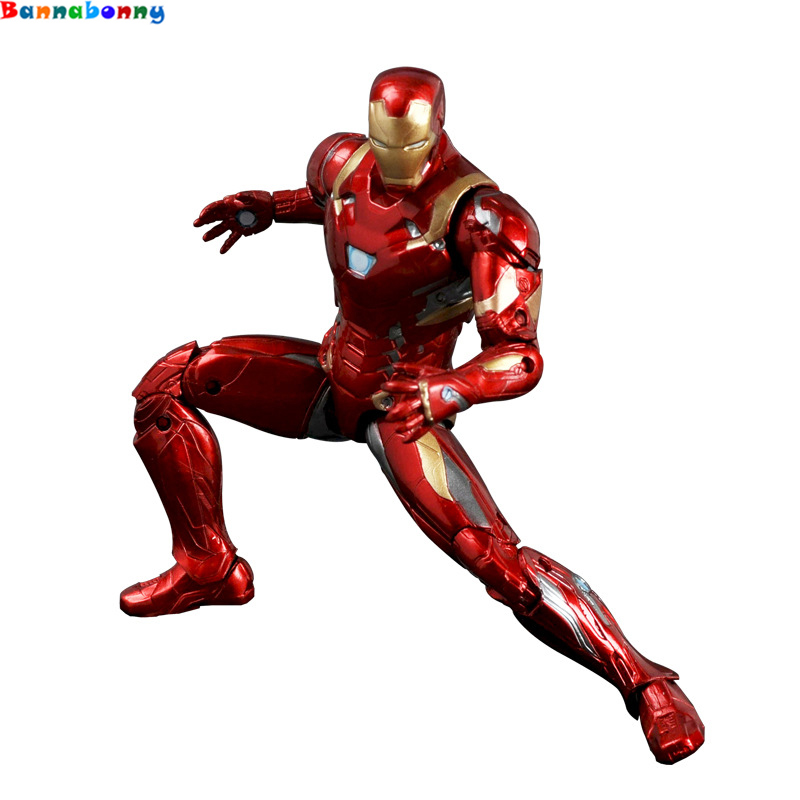 2018 Newest Style Captain America Civil Clint Iron Man Tony Stark Cartoon Toy PVC Action Figure Model Gift captain america civil war iron man 618 q version 10cm nendoroid pvc action figures model collectible toys