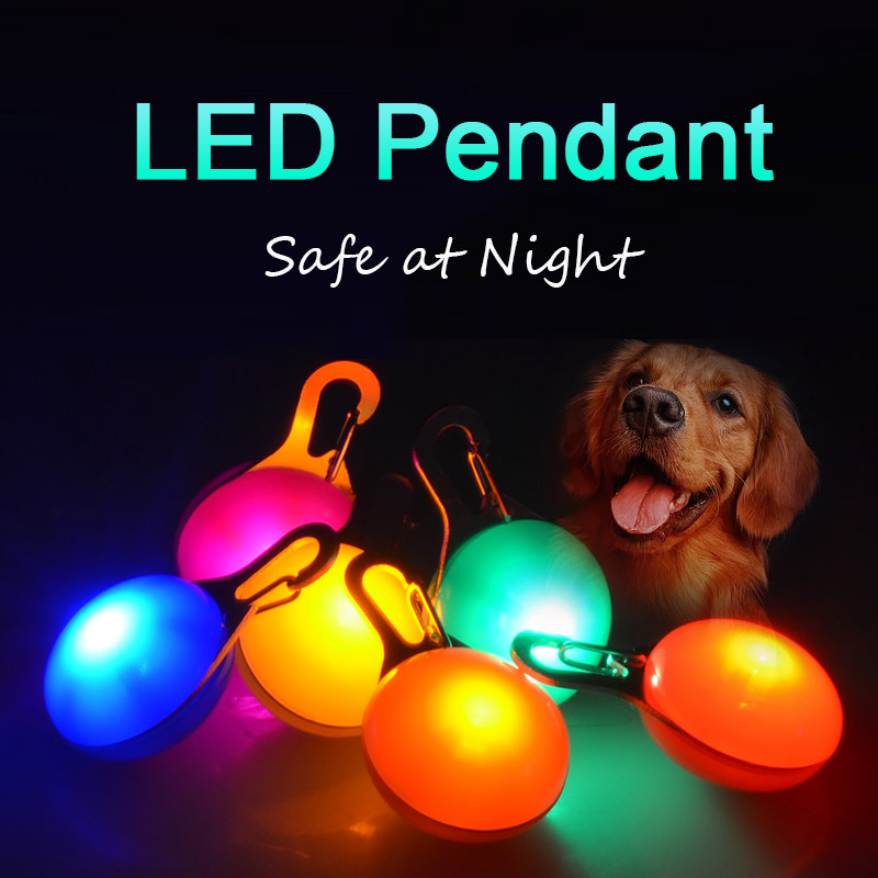 LED Dog Tag at Night Three Flash Modes Lights Glowing ID For Dogs on Collars Luminous Anti-Lost Pet Products