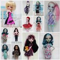 Free Shipping,16items=8clothes+8hangers Different Color Different Styles Doll Clothes Dress For Monster High Dolls