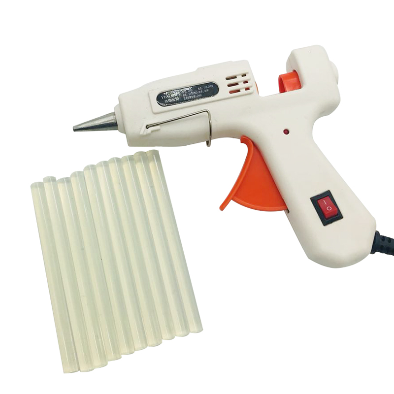 100V-240V  DIY Hot Melt Glue Gun With Glue Stick High Temperature Melting Repair Tool Kit And 10pcs 7mm Glue Sticks For Craft