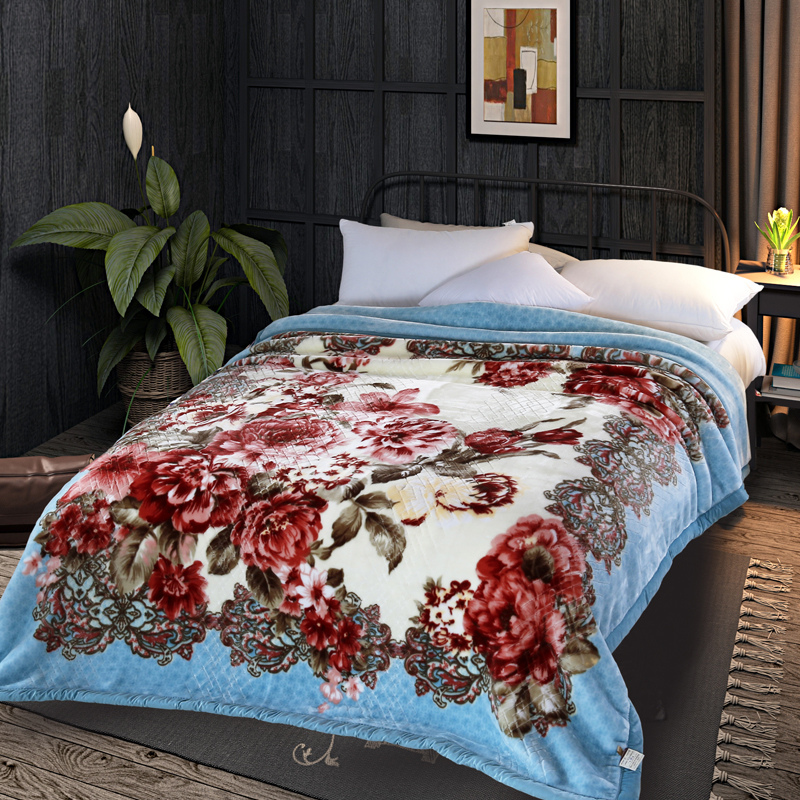 ARNIGU Europe style Thick Blankets 200x230cm Queen size Thicken Double face Raschel Plaids Winter Throw/comforter Warm Bed sheet