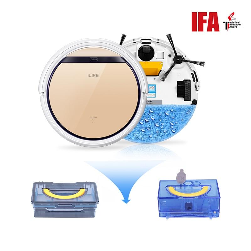 ILIFE V5s Pro aspirateur robot Balayage et balai mouillé Automatique Recharge pour les poils D'animaux et Sol Dur Puissant Aspiration rouge à lèvres de charme - 6