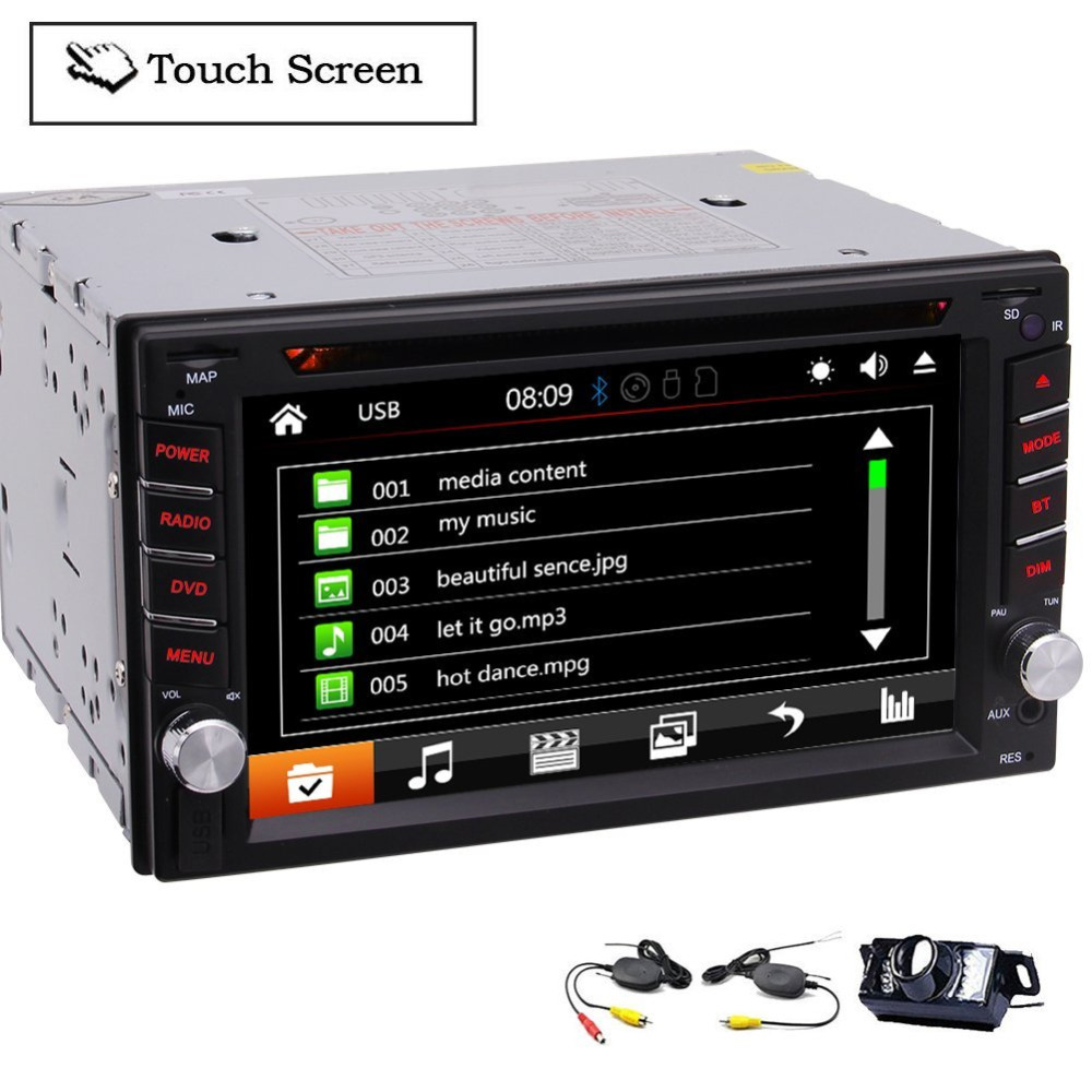 2 Din Autoradio Car Radio Stereo In Dash 6.2'' Headunit DVD Player Capacitive Touch Screen Auto Radio Bluetooth USB/SD FM/AM/RDS 1din car headunit fix panel car stereo car cd dvd player 1din usb sd fm aux in car radio player mp3 single din detachable panel