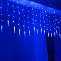 Wholesale 220V 4*0.6M 120LEDs LED Icicle Curtain Lights For Xmas Tree Garden Home Decoration Christmas LED String Waterproof