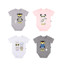 TinyPeople 2019 panda baby onesies summer Short sleeve cotton infant bodysuit body bebe Clothes for newborn girls costume