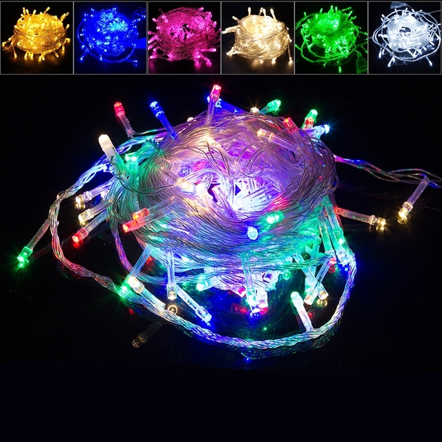 Waterproof 30m50m led outdoor christmas fairy lights led clear wire waterproof 30m50m led outdoor christmas fairy lights led clear wire string lights starry light mozeypictures Choice Image