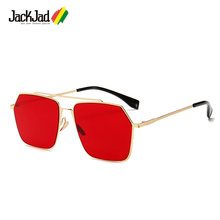JackJad 2019 Fashion Cool Square Aviation Style Shield Sunglasses