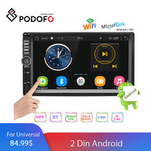 "Podofo 2 Din Android Autoradio Doppio Din GPS Car Stereo Radio 7 ""Touch Screen 2din Auto Lettore MP5 lettore multimediale Autoradio"