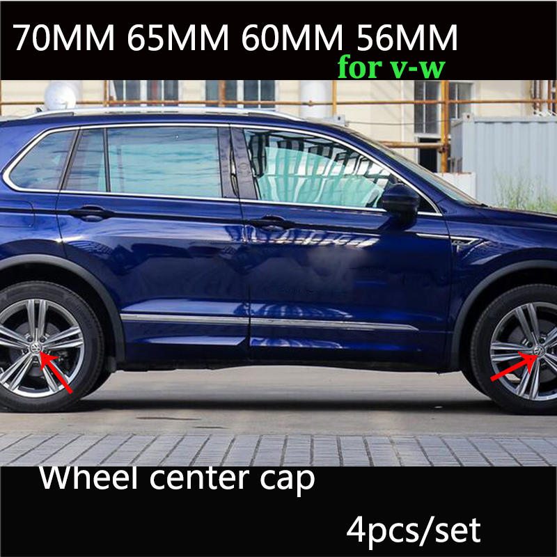 4 piezas Negro Azul 56mm 60mm 65mm 70mm casquillo del Centro de rueda de coche para Volkswage Passat B6 b7 CC Golf Jetta MK5 MK6 Tiguan