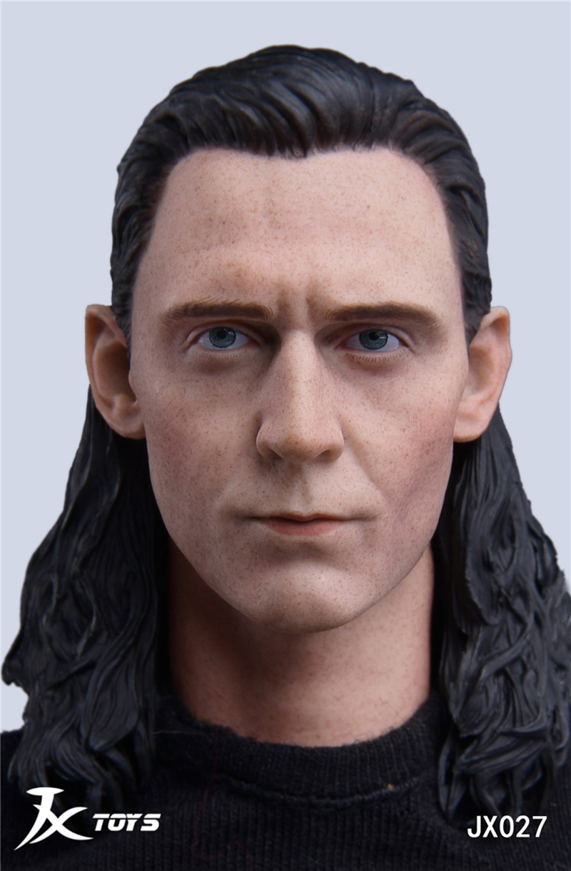 For collection JXtoys 1 6 figure head carving JXTOYS 027 1 6 Avengers LOKI Rocky Head Sculpt Toys Gift for 12inches male body in Action Toy Figures from Toys Hobbies