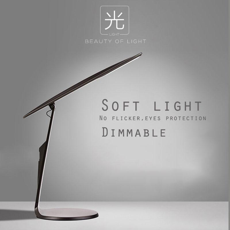 купить LED Desk Read Lamp Office Table Eye Protection Light USB Powered Study lamp Foldable Stepless Dimmable Touch Sensor Control по цене 1261.35 рублей
