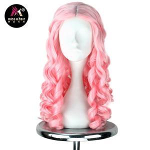 Image 4 - Женский Длинный светлый парик Miss U, вьющиеся волосы в стиле королевы, маскарадный парик на Хэллоуин для взрослых и детей