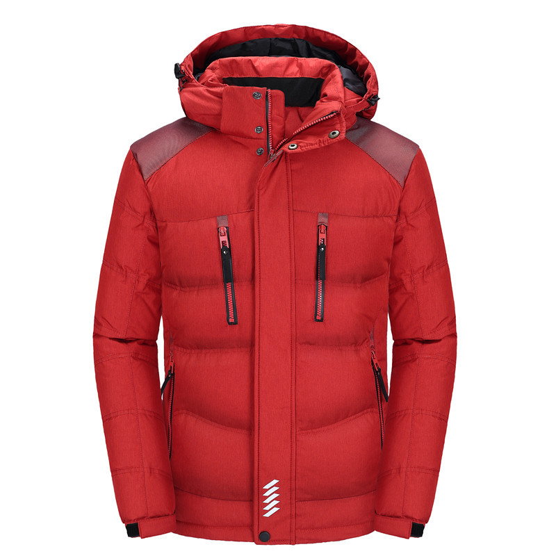 Men's Hooded Duck   Down   Jackets Thick Warm Winter   Down     Coats   Male Parka Overcoats Jacket Outerwear Snow   Coat   Mens Clothing