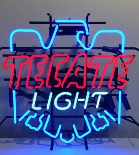 Custom TECATE Light Eagle Glass Neon Light Sign Beer Bar
