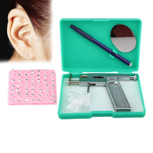 Professional Painless Ear Body Pierce and 98 free Silver ToolTone Studs Beauty WLDE