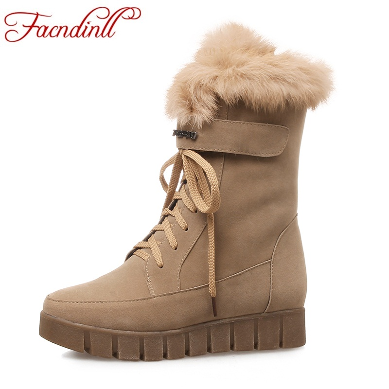 FACNDINLL new fashion women ankle boots shoes med heel round toe shoes woman lace up black autumn winter snow boots high quality new arrival black full grain leather lace up fashion women boots round toe flat with ankle shoes woman z 7