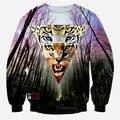 Тигр леопардовый и деревья 3 D принт мужчины толстовки футболка стильный пуловер толстовка топы