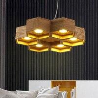 Современные светодио дный деревянный подвесной светильник для ресторана спальня Hotel Обеденная офисные Кухня