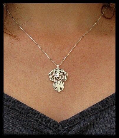 Ожерелье такса из сплава в стиле бохо Модный кулон с мультяшной