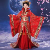 Hot Sale New Chinese Ancient Traditional Queen Dramaturgic Costume Robe Dress Free Shipping Dr0018
