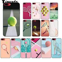 Yinuoda Tennis tennis racket Coque Shell Phone Case for Apple iPhone 8 7 6 6S Plus X XS MAX 5 5S SE XR Cellphones(China)