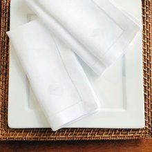 Guardanapo de guardanapo branco com 12 peças, guardanapo para guardanapo de linho de algodão para festa, casamento, 4 tamanhos disponíveis