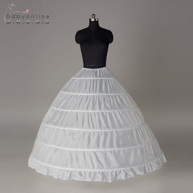 Wholesale 6 Hoops Bridal Wedding Petticoat Marriage Gauze Skirt 2016 Crinoline Underskirt Wedding Accessories Jupon Mariage