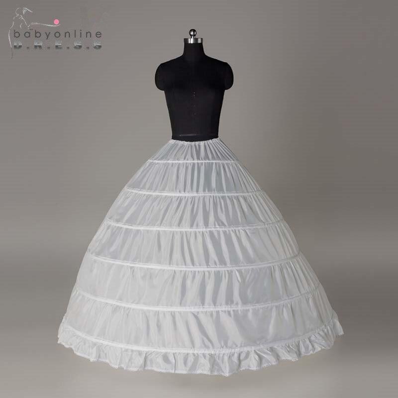 Wholesale 6 Hoops Bridal Wedding Petticoat Marriage Gauze Skirt 2017 Crinoline Underskirt Wedding Accessories Jupon Mariage