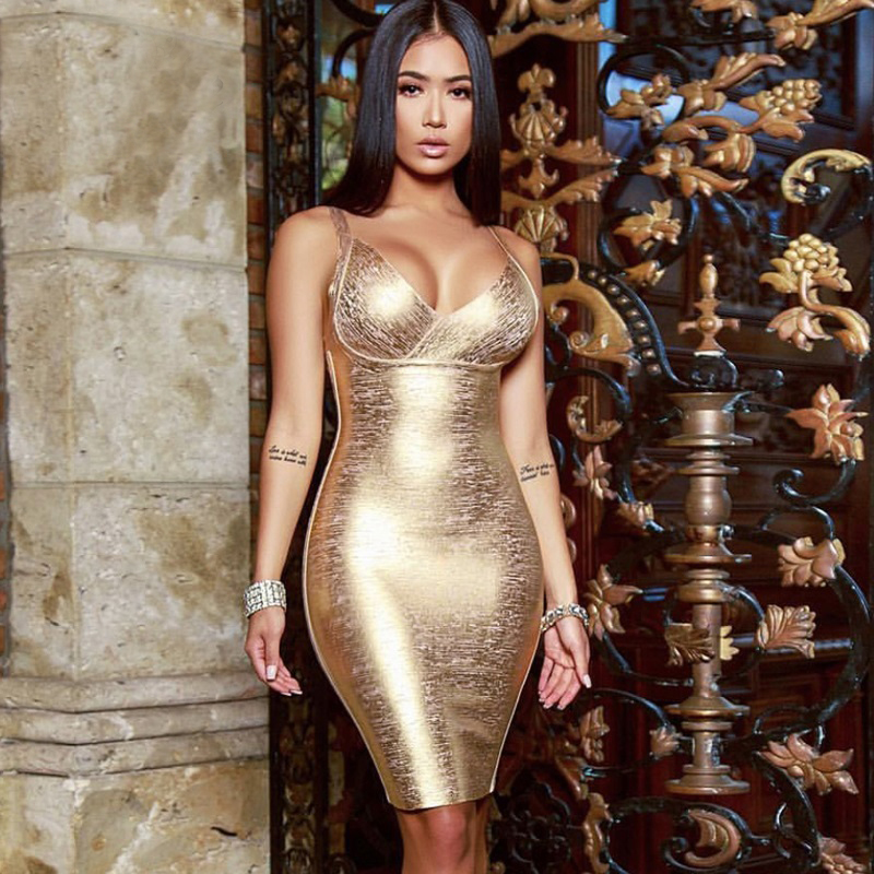 Vicente-HOT-2019-New-Chic-Elegante-leo-Dourado-Impress-o-Sexy-Sem-Mangas-Vneck-Backless-Atacado